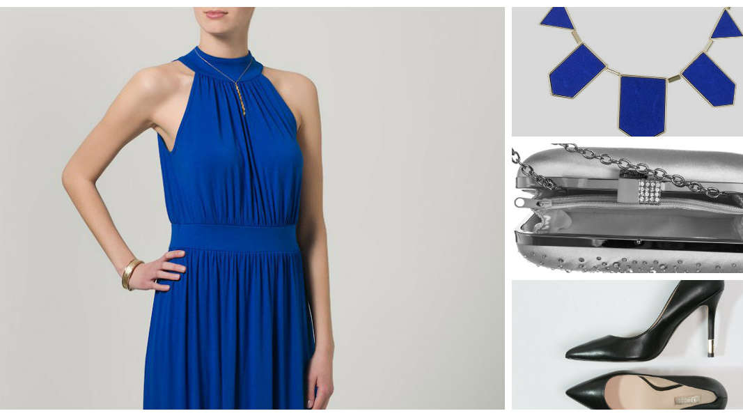 Jakie dodatki do chabrowej sukienki?