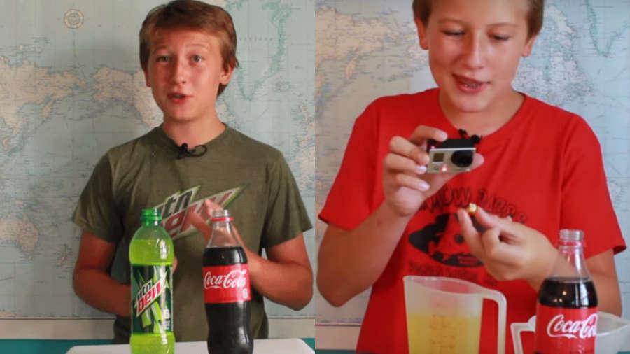 Dzieciaki testują: Jak COCA COLA wpływa NA ZĘBY?