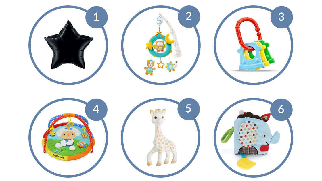 Zabawki dla niemowlaka miesiąc po miesiącu