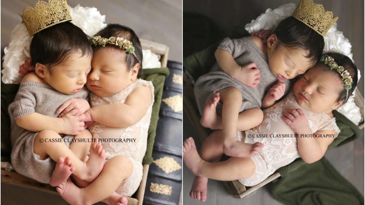 Sesja zdjęciowa noworodków Romea i Julii z wyjątkową historią w tle
