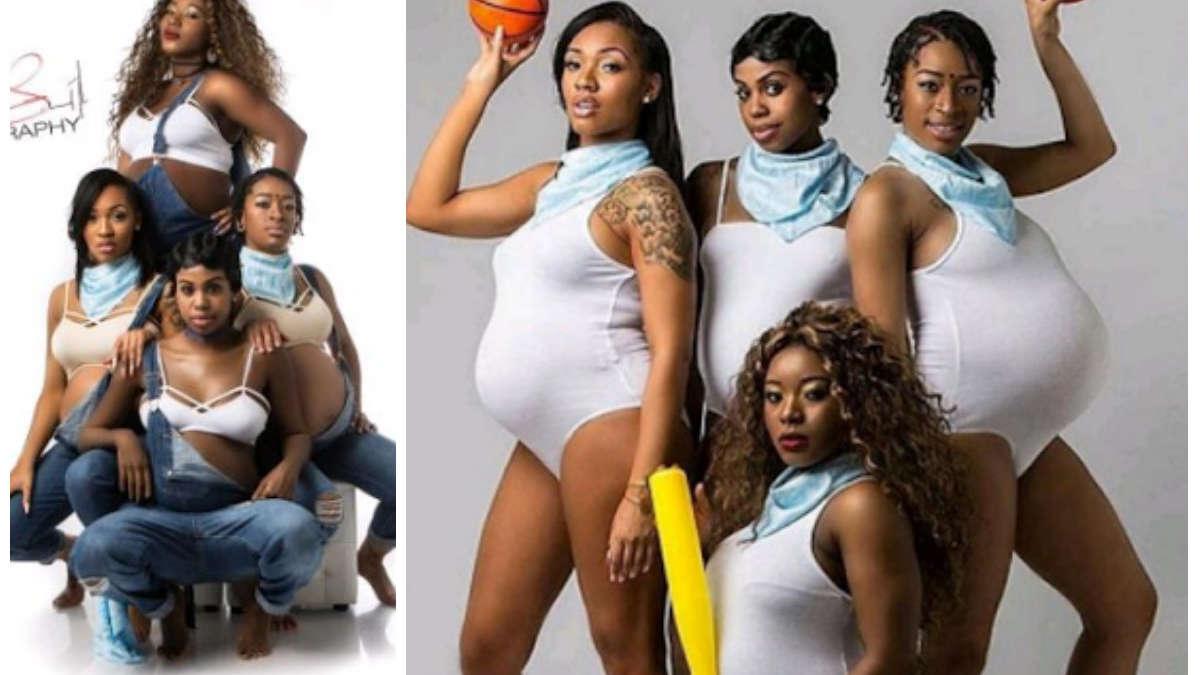 Te zdjęcia podbijają internet: cztery przyjaciółki w ciąży zrobiły sobie wspólną sesję