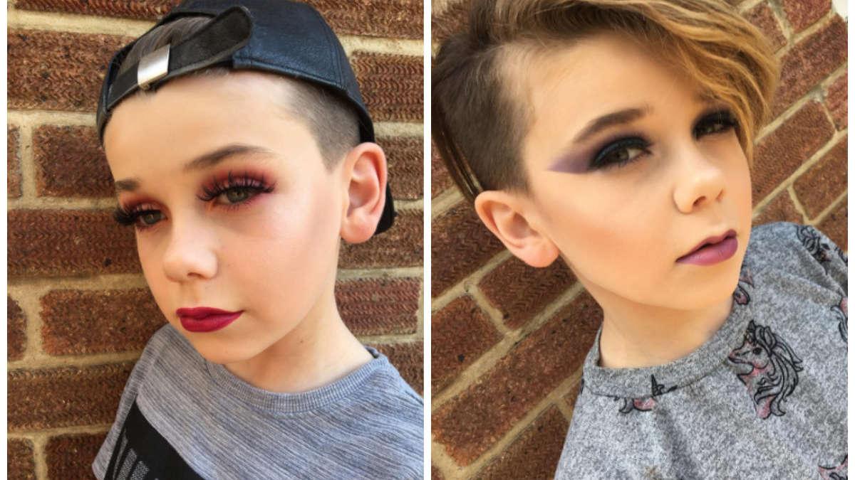 10-latek zmienia się nie do poznania z pomocą… makijażu! Wizażyści są pod wrażeniem!