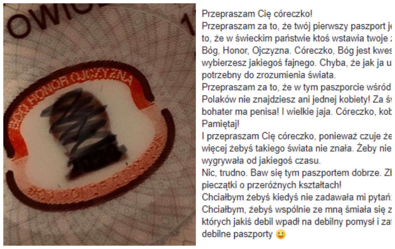 Post tego taty dotyczący paszportu córki viralowo rozchodzi się na Facebooku. Co myślicie o jego przeprosinach?