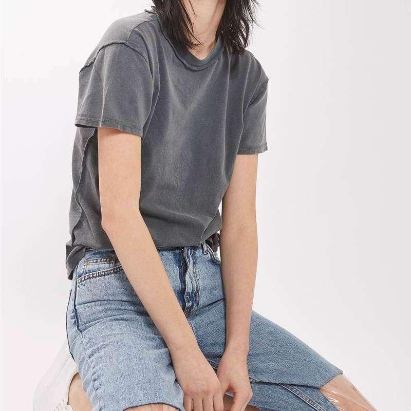 Topshop Jeansy z plastikowymi dziurami na kolanach