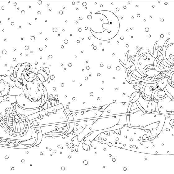 Święty Mikołaj kolorowanki