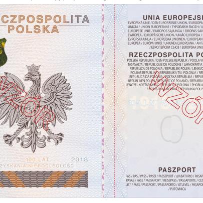 strona spersonalizowana nowego paszportu 2018