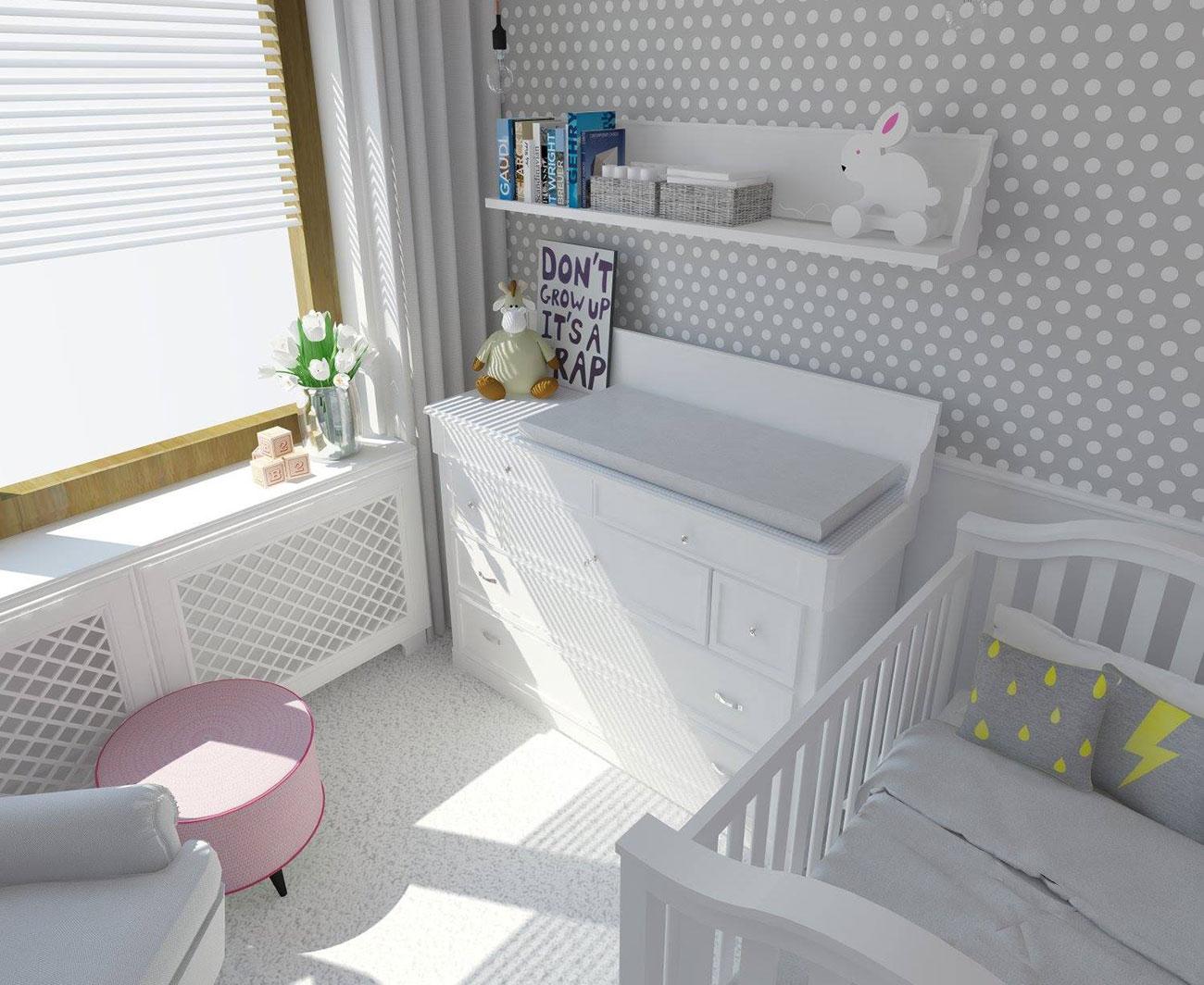 Zbyt suche powietrze w pokoju niemowlaka