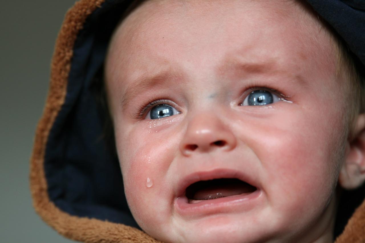 Łzy u niemowlaka