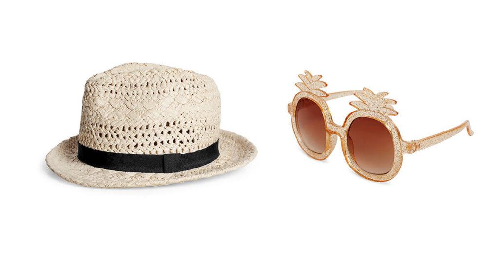 Kapelusz i okulary przeciwsłoneczne dla dziewczynki