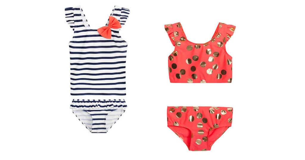 Dwuczęściowe stroje kąpielowe dla dziewczynki