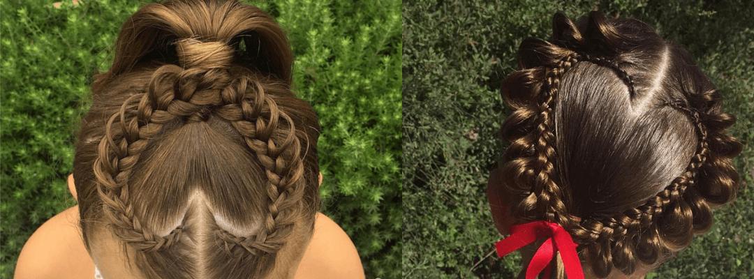 Fryzury dla dziewczynki (nie tylko) na walentynki
