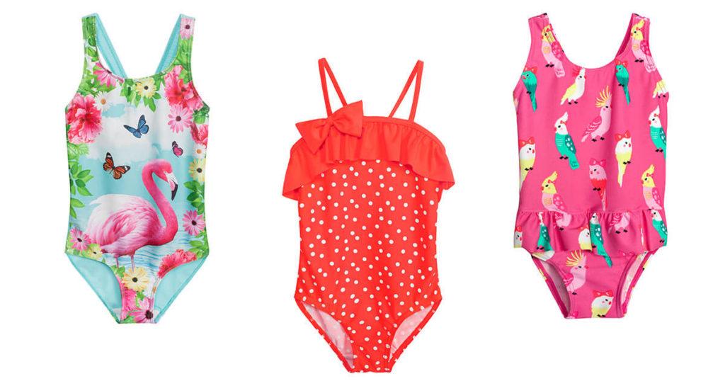 Jednoczęściowe stroje kąpielowe dla dziewczynki