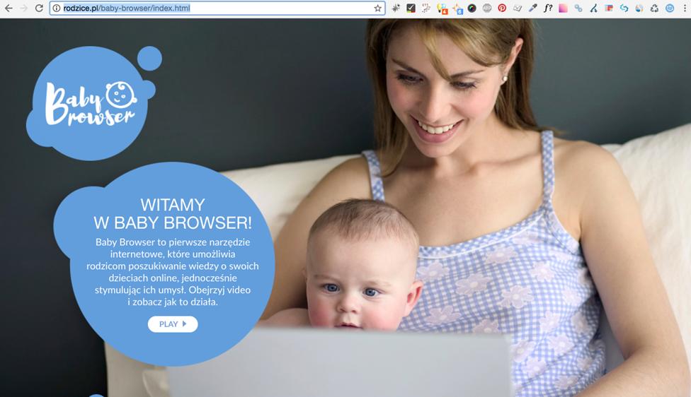 Baby Browser – aplikacja stworzona z myślą o niemowlętach i… ich rodzicach!