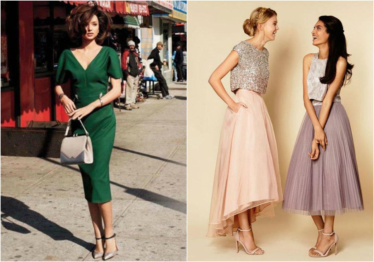 Sukienki midi: jak je nosić, by ukryły pociążowe krągłości?
