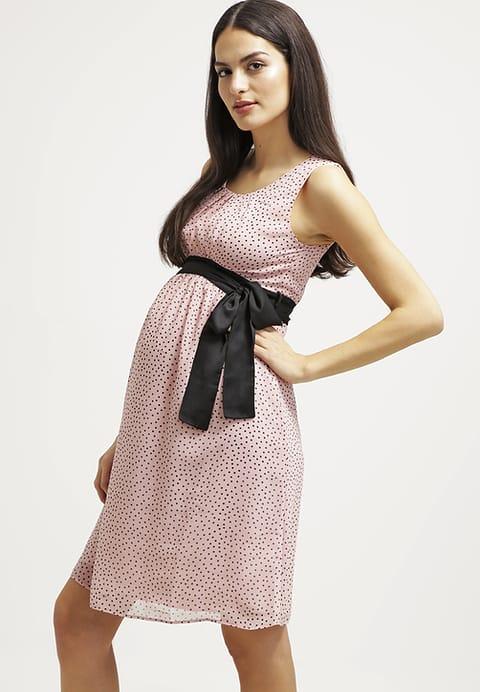 sukienka wiosenna dla ciężarnej z kokardą