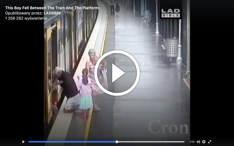 Ku przestrodze: Mały chłopiec wpada w lukę między pociągiem, a peronem metra!