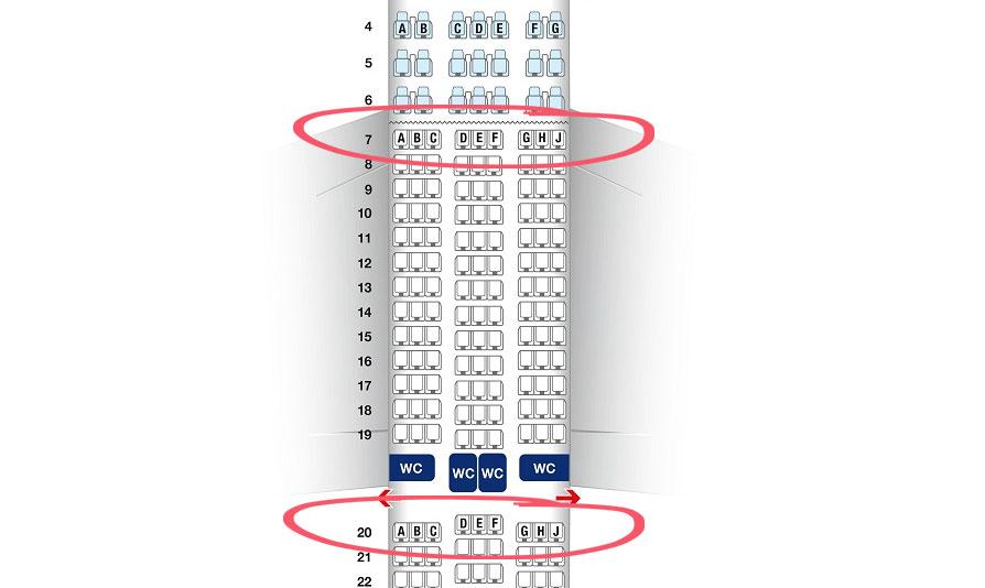 Miejsca w samolocie dla dzieci
