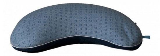 Granatowa poduszka rogal