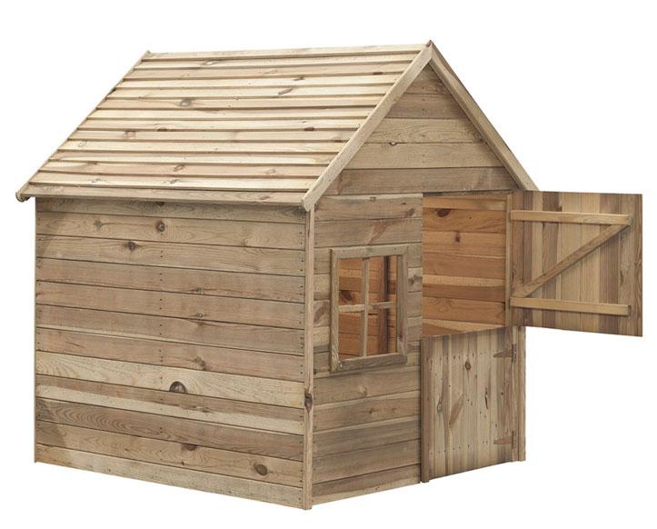 Drewniany domek dla dziecka do ogrodu