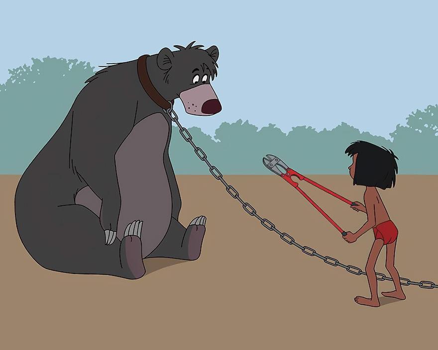 Disney: Bajka o uwięzionym niedźwiedziu