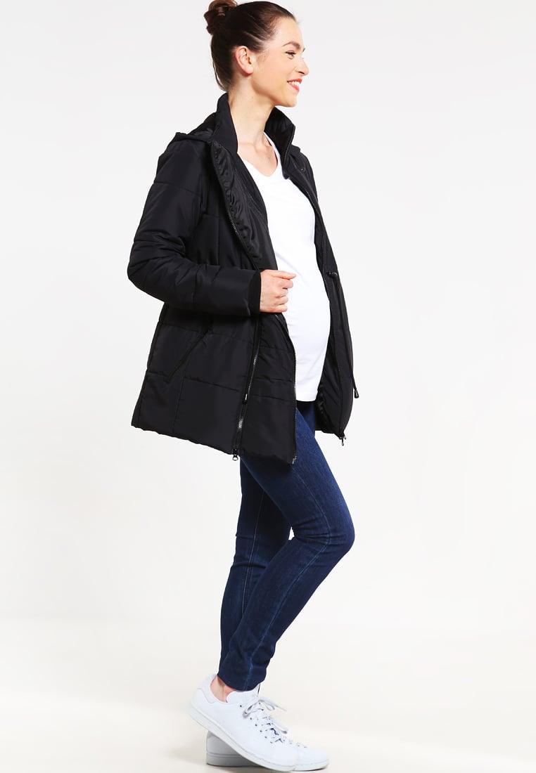 Czarna kurtka ciążowa na zimę