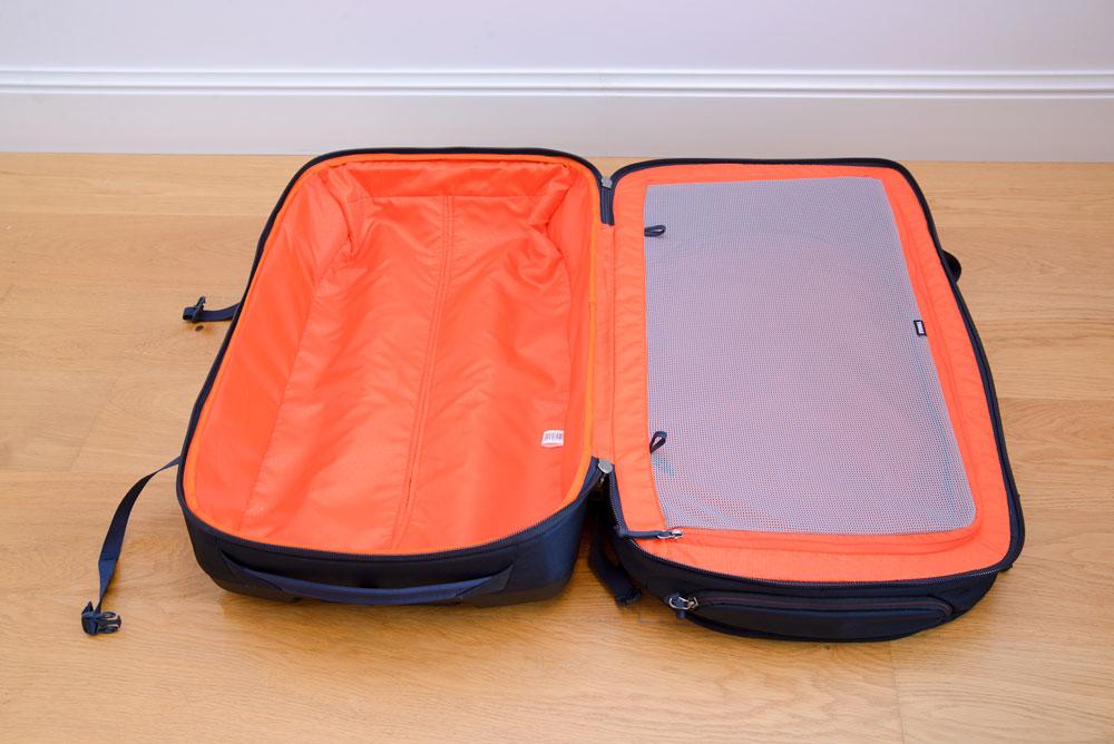 dwukomorowa walizka podrozna
