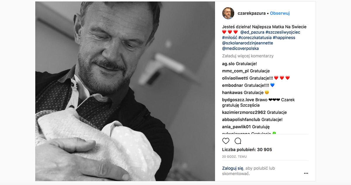 Edyta Pazura urodziła! Tata Cezary zdradził płeć, imię oraz pokazał zdjęcia