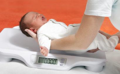 przybieranie na wadze niemowląt